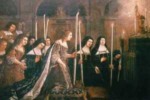 Anne d'Autriche à la fondation de l'Institut du Saint Sacrement de Mère Mectilde